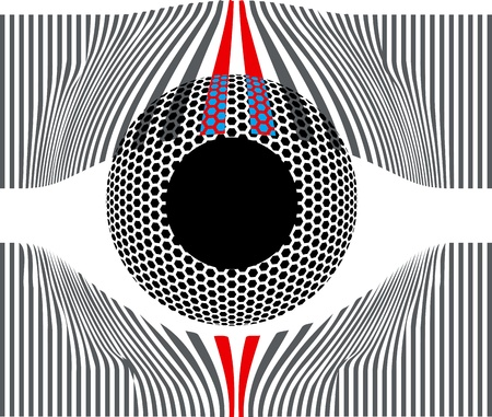 visions of america: Look at my eyes. Vector illustration