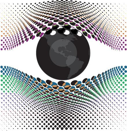 iris: Look at my eyes. Vector illustration