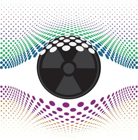 international news: Look at my eyes. Vector illustration