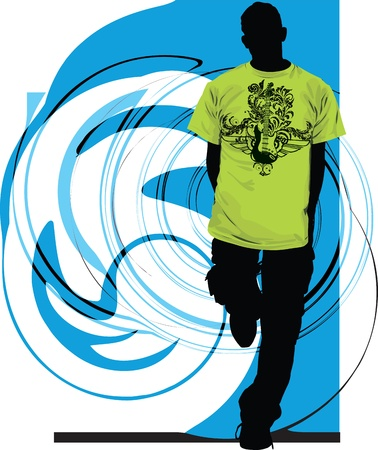 tee shirt: Teenagers illustration