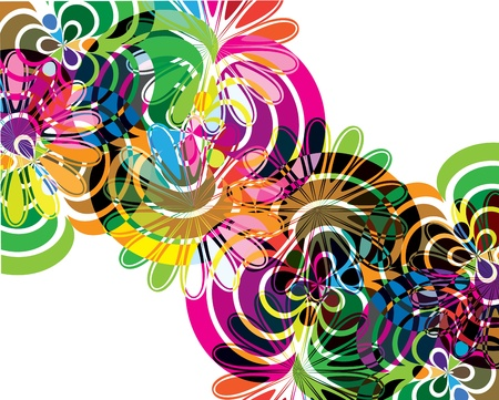 Abstract flowers illustrations Vector