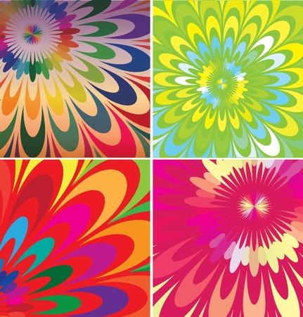 florist: Abstract flowers illustrations Illustration