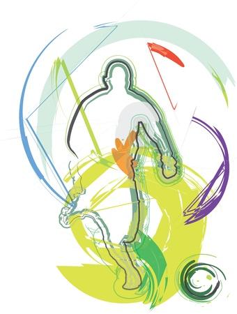 foot ball: Football player. Vector illustration