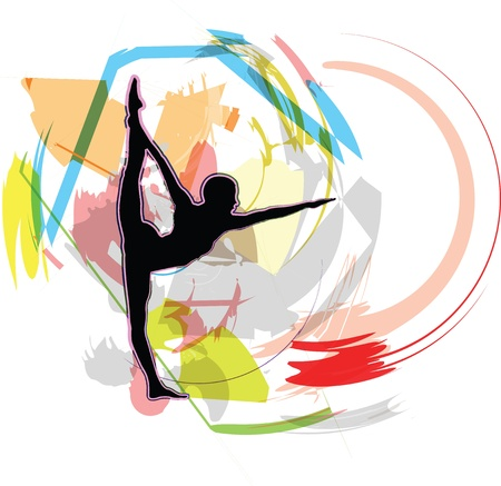 Yoga illustration Stock Vector - 10999865