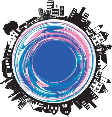 Buildings on a Circle Vector
