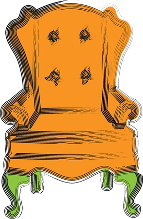 leather armchair: Chair illustration