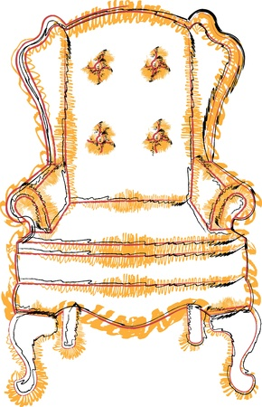 leather chair: Chair illustrazione