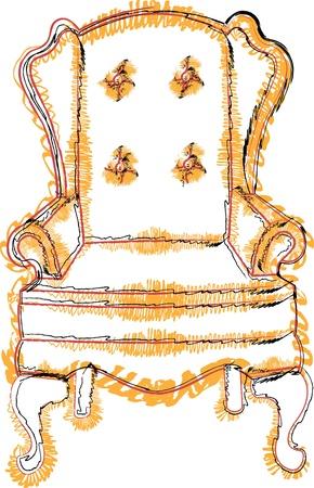 Ilustracja krzesło