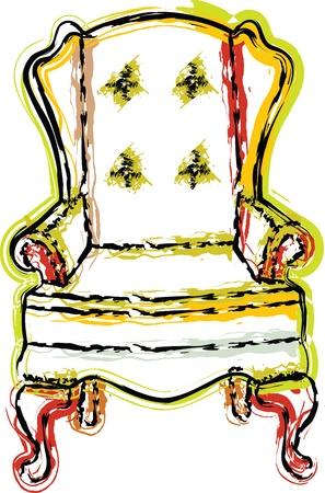 Chair illustration Stock Vector - 10999869