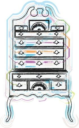 cupboards: victorian furniture illustration