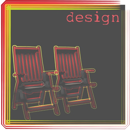 Outdoor chairs illustration Vector