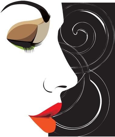 illustration vectorielle femme