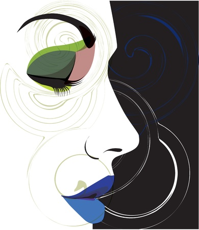 woman vector illustration Stock Vector - 10999151