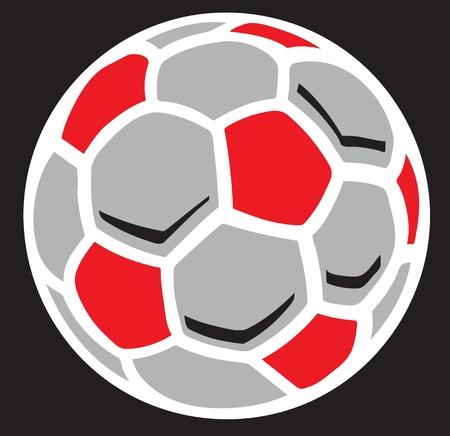 futbol: Pallone da calcio illustrazione