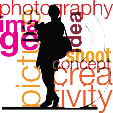 Photographer illustration Stock Vector - 10999131