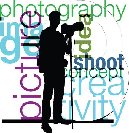 El fotógrafo ilustración Ilustración de vector