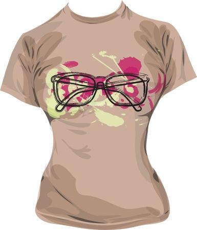 tee shirt: tee, vector illustration