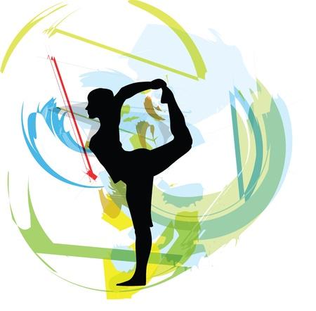 Yoga ilustración Ilustración de vector