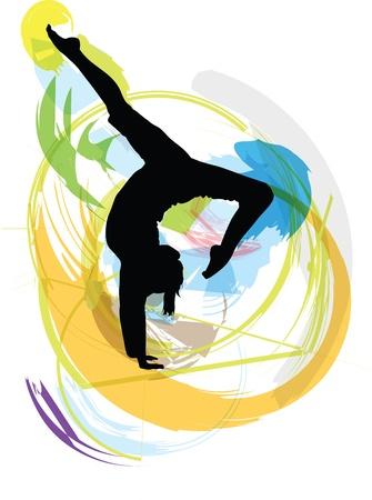 physical training: Yoga illustration