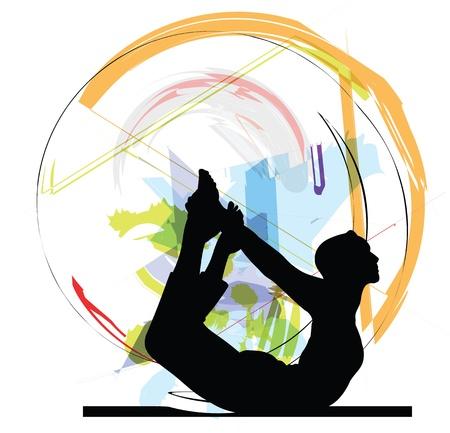 ejercicio aer�bico: Yoga ilustraci�n