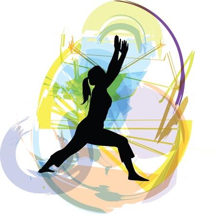 sport body: Yoga illustration