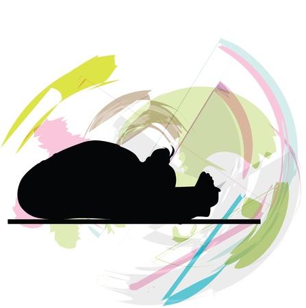 Yoga illustration Stock Vector - 10999863