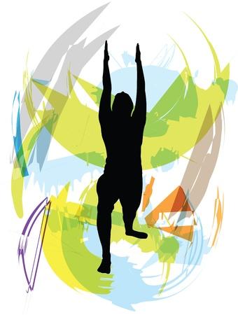 Yoga illustration Stock Vector - 10999483