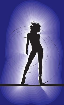 club dancer: Dancing girl, vector illustration