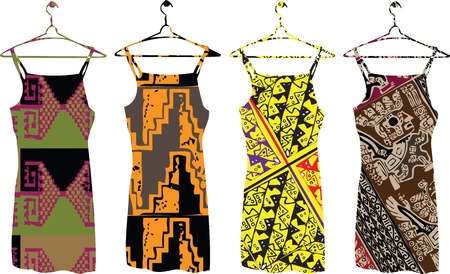 inka: ancient dresses illustration