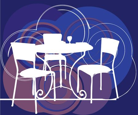 lawn chair: Table & chairs illustration