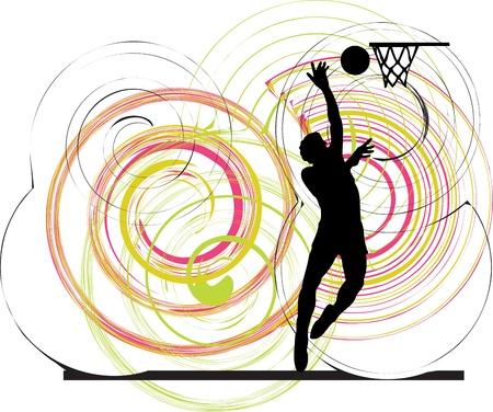 basketball player illustration Vector