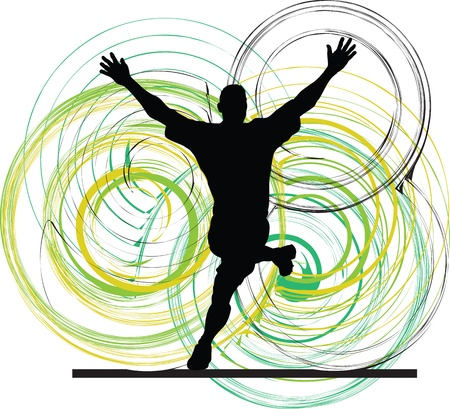 Football player. Vector illustration Vector