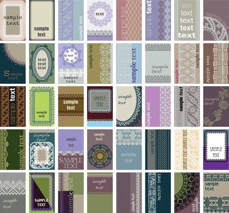 40 tarjetas de visita vertical. Fondo antiguo