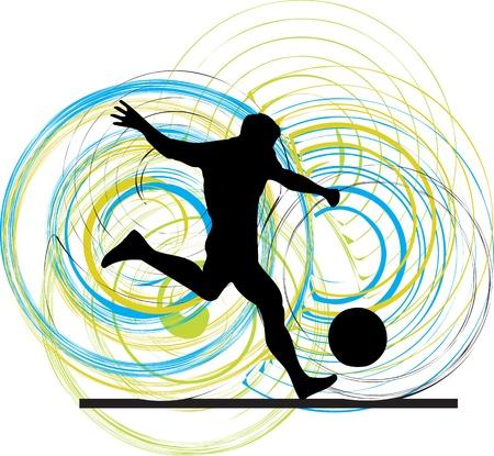 footballer: Football player. Vector illustration