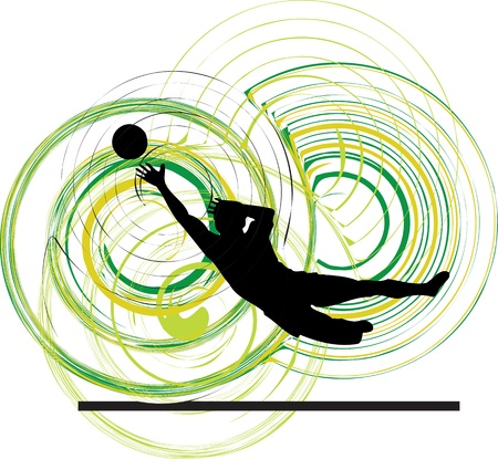 kickball: Football player. Vector illustration