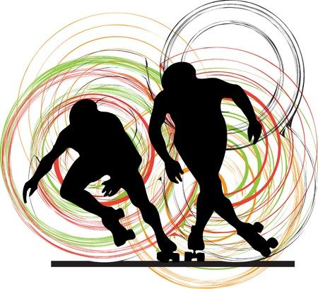Skater illustration Stock Vector - 10999023