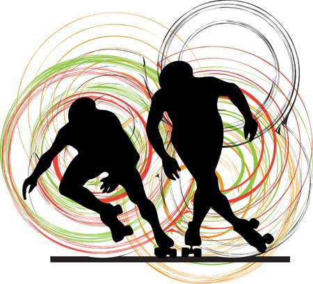 athletic body: Skater illustration Illustration