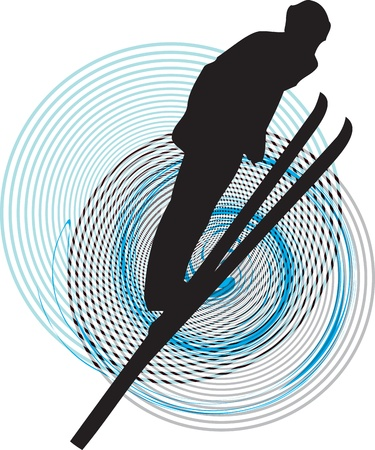 Skiing vector illustration Vector