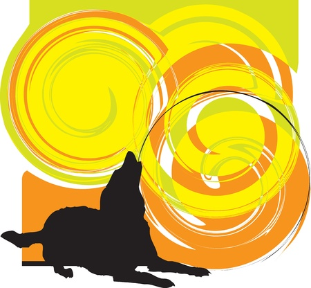 obedience: Dog, vector illustration