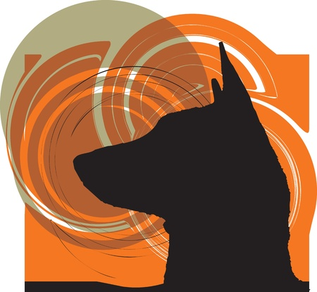 paw russell: Dog, vector illustration