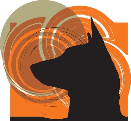 Dog, vector illustration Stock Vector - 10999144
