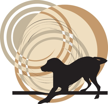 Dog, vector illustration Stock Vector - 10998985