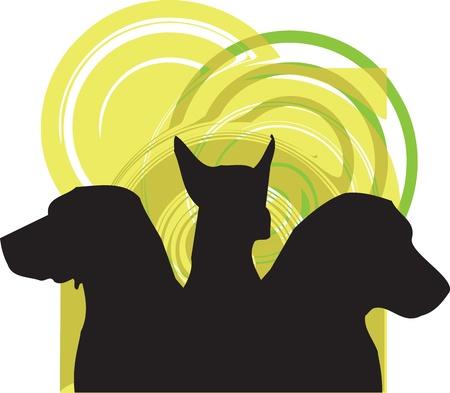 obedience: Perro, ilustración vectorial Vectores