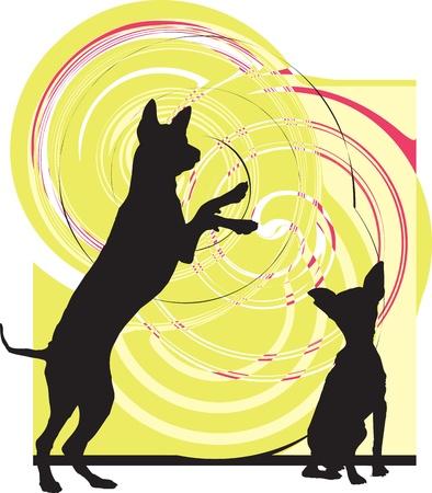 agility: Dog, vector illustration