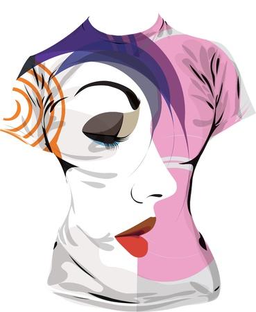 Women tshirt Stock Vector - 11000870