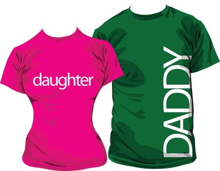 Family tshirts Vector