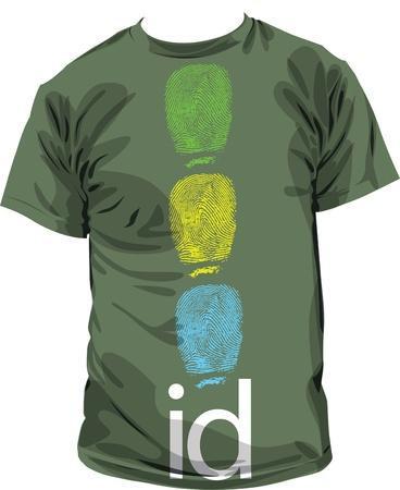 tshirt id Stock Vector - 11000911