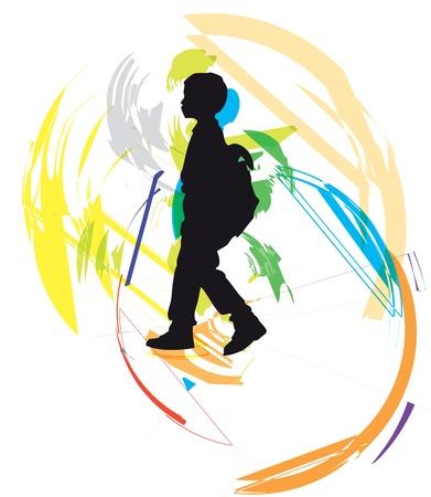 Boy illustration Vector