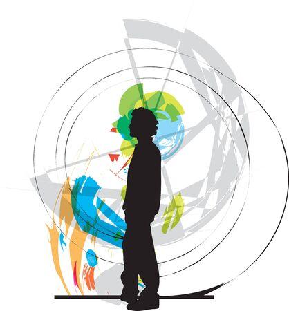 shopfront: teenager vector illustrator Illustration