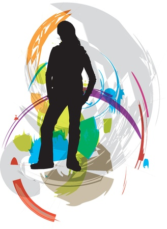 woman vector illustration Stock Vector - 11000922